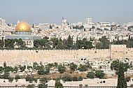 Jerusalem, Dome of the Rock (left) and Golden Gate (right)