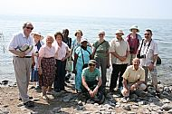 Our group at the Sea of Galilee