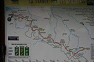 Map: Stage 1 Hendaye to St-Jean-Pied-de-Port. Stage 2 is St Jean to Etsaut