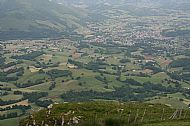 Our destination: St Jean Pied de Port, seen from Mounho
