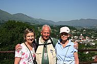 Julia, JMGG and Jane at our destination