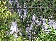Jamie on the Holzarte Bridge
