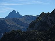 First sight of the Pic Du Midi D'Ossau