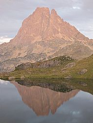 Pic Du Midi D'Ossau reflected in the Lac D'Ayous