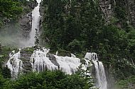 Waterfalls on the River d'Ars above Aulus-Les-Bains