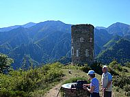 Landmark Pointer, Watch Tower and Canigou in the distance (Left). Taken at the Col Du Jou, above Vernet-Les-Bains
