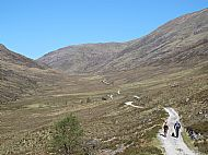 The trail through the Lairigmor: Angus, Hec and Strathy