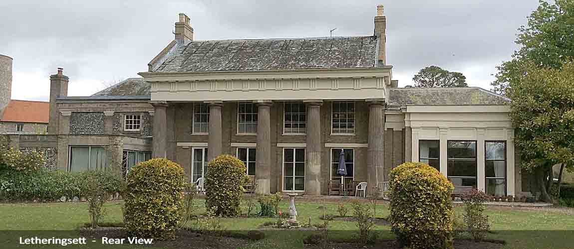 letheringsett hall residential care home at holt - rear view