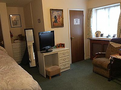 a bedroom at field view residential care home