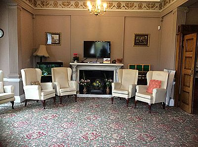 the lounge area at letheringsett hall  residential care home - holt