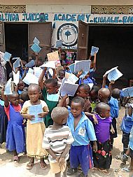 Evidence photo showing some of the achievents-Providing materials to encourage children to enter and stay in school