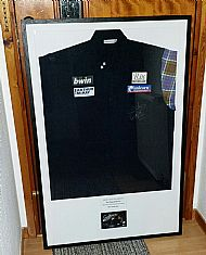 Gary Anderson charity auction shirt.