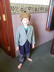 Dressing up in Ullapool museum