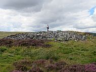 Tranquil Transition - Last Resting Place, Ord North Cambered Cairn, at Ord Hill, Lairg