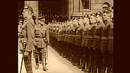 Earl Haig inspects the Cameronians Kelvingrove Memorial Unveiling.