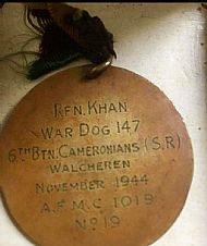 Rifleman Khan. Dicken medal.