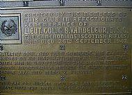 Vandeleur Plaque.