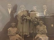 Wedding of William and Annie Sutherland.