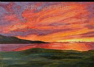Sunset over Isle of Harris Golf Course