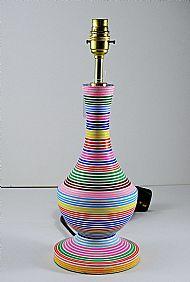 Striped bottle lamp