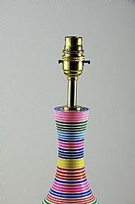 Detail of striped bottle lamo