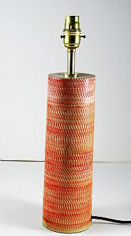 Red textured lamp