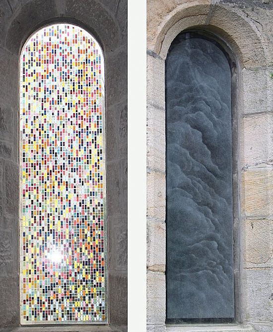 two stained glass windows