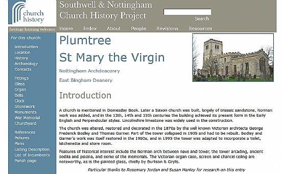 southwell church history project website