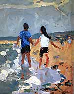 Figures on the Shoreline