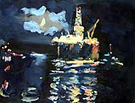 Moonlight, Cromarty Firth (sold)
