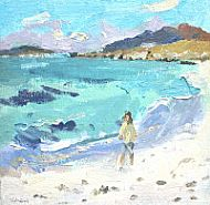 Prince Charlie's beach, Eriskay, oil on linen 8