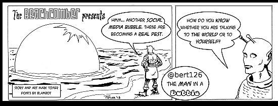 the beachcomber discovers a social media bubble.