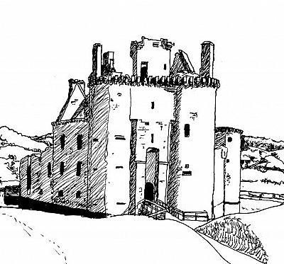 caerlaverock castle, dumfries