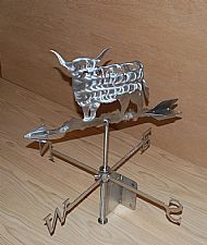 Highland cow weather vane