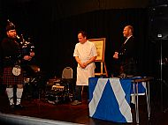 Piping the haggis