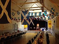 Hall ready for Burns night 2017