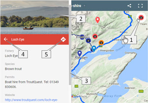 embedded fly fishing map of north sutherland