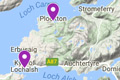 nc500 fishing map - sea fishing charter boats