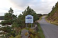 entrance to shieldaig from south