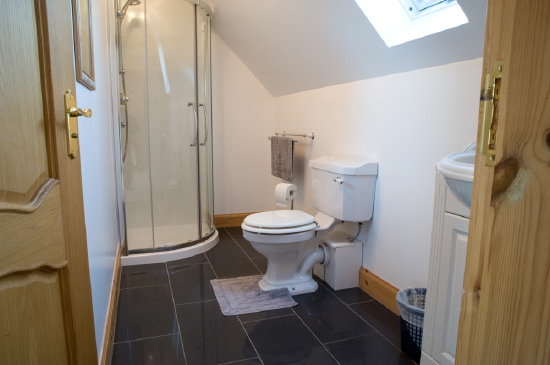 sgritheal view bed & breakfast, skye - ensuite bathroom and walk-in shower