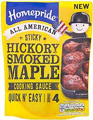 Homepride Hickory smoked maple cooking sauce