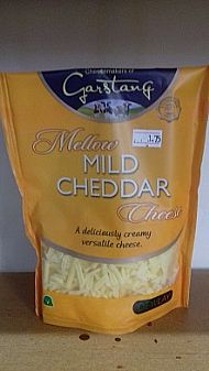 Grated mild cheddar - 180g