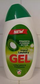 Gel washing liquid