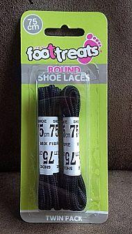 Round shoe laces- black