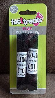 Flat shoe laces - black