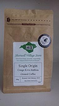 Single origin Congo Kivu Arabica coffee