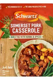 Schwartz Somerset pork casserole sauce