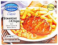 Steaklet & chips ready meal