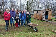 Keen gardeners at the Armadale Community Garden