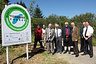 The ceremony marking the purchase of Tormore Forest July 2011